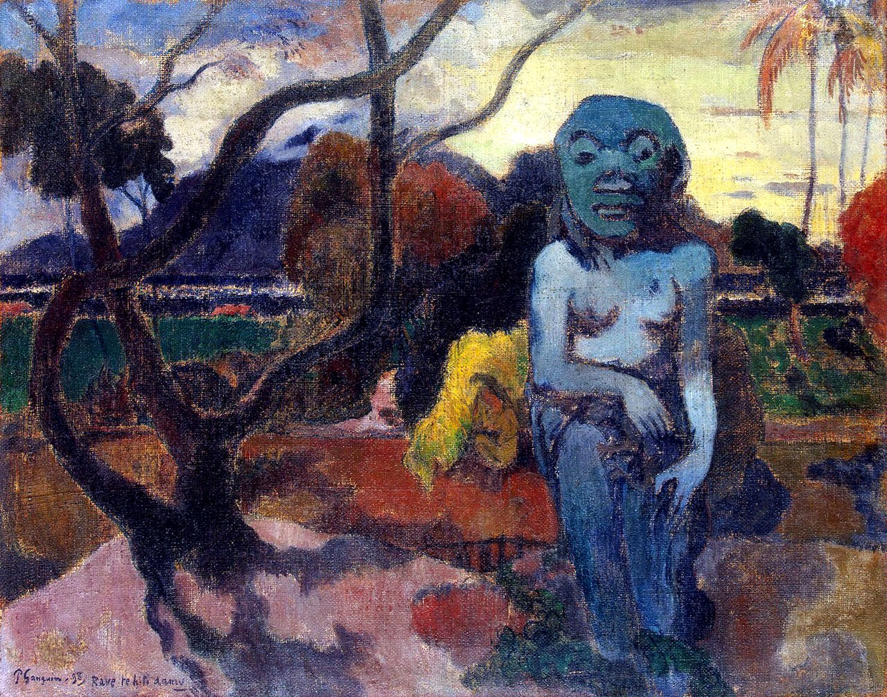 an evaluation of the painting agony in the garden by paul gauguin